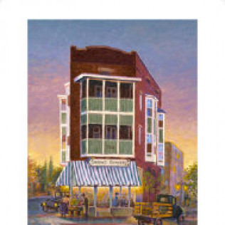 Sunset Grocery Print 16 x 20